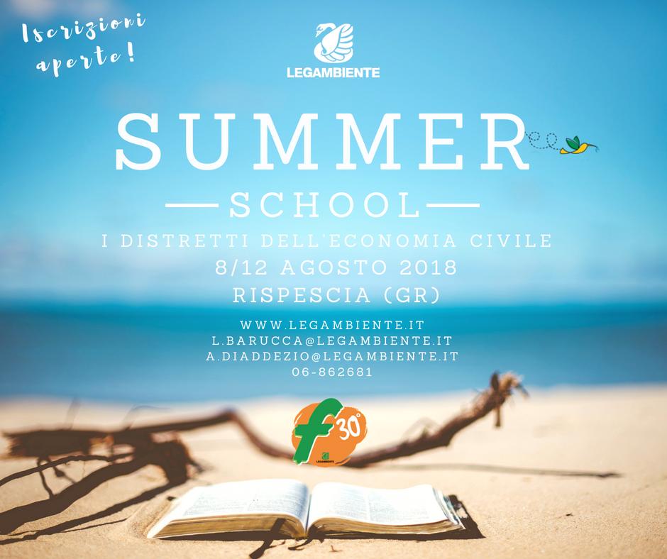 Summer School economia civile – 8/12 agosto 2018 – Rispescia (GR)