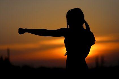 karate tramonto